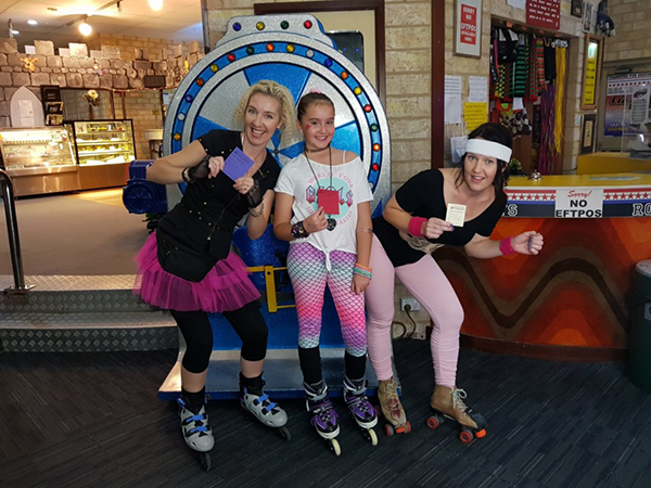 80s Fancy Dress costume winners rolloways skating