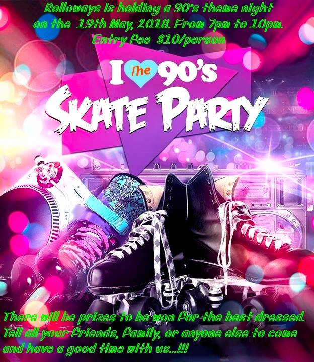 I love the 90 skate party