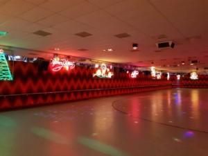 Red lighting christmas rolloways