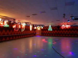Christmas lights at Rolloways