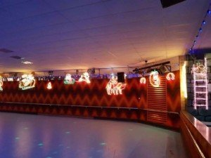 LED lights christmas rollerskating