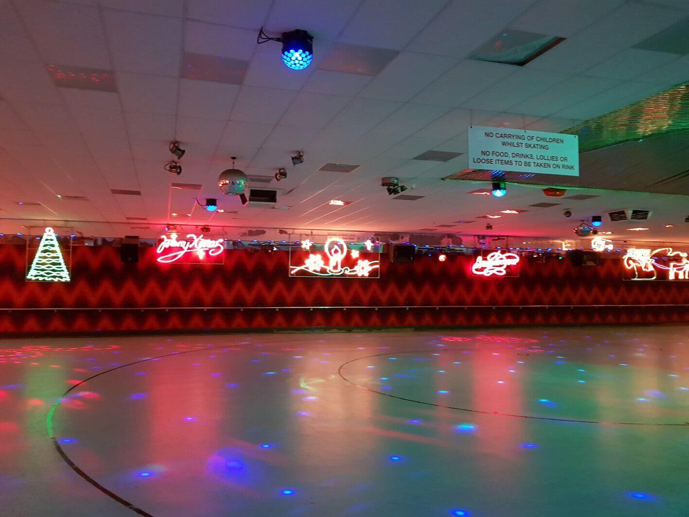 rolloways skating rink christmas