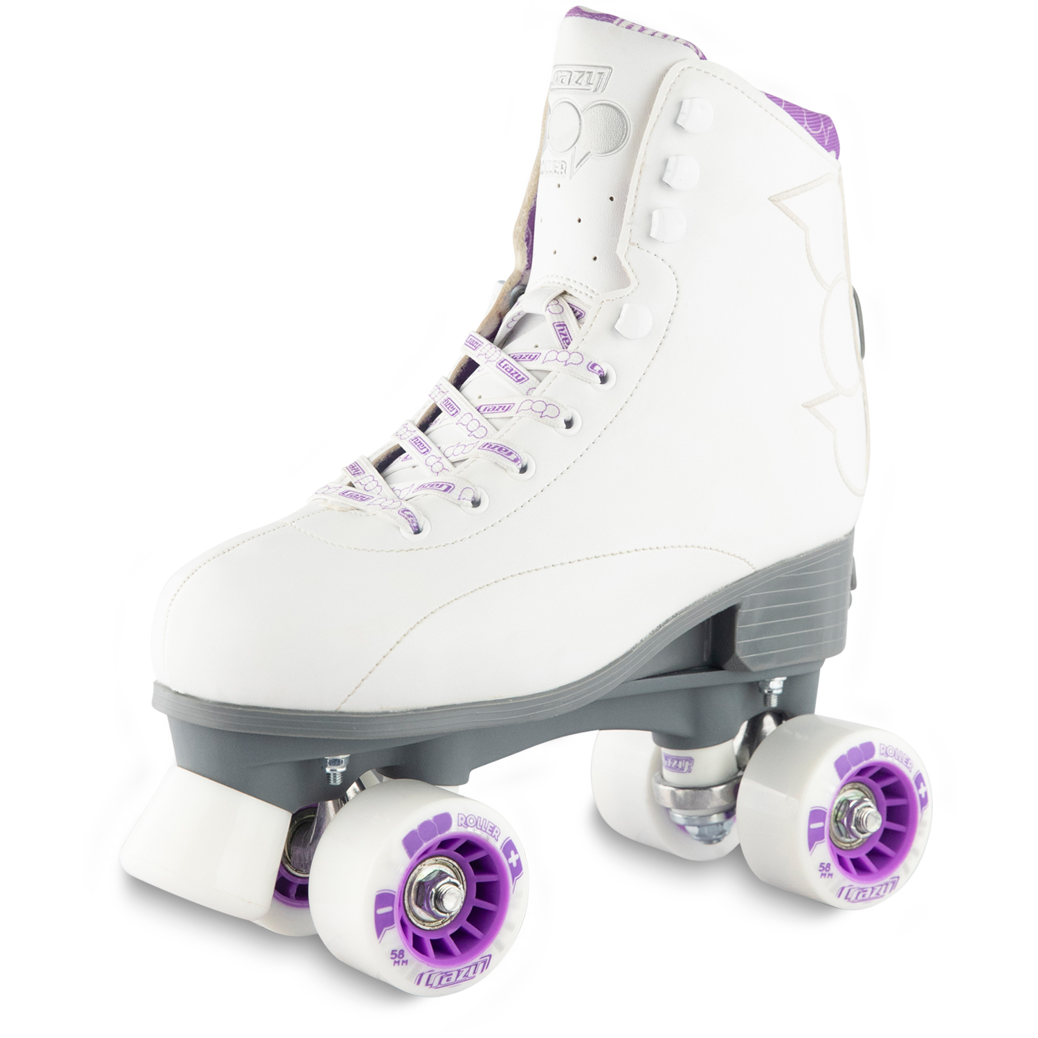 Girls white roller skates