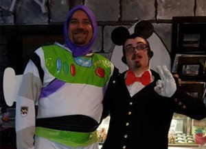 Disney theme buzz lightyear mickey mouse rollerskating costumes